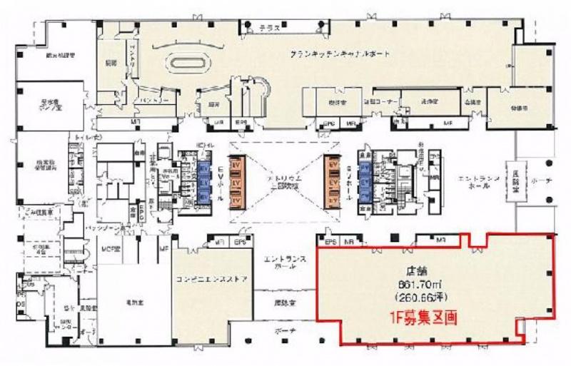 KDX豊洲グランスクエア 1階 180.38坪 (江東区東雲1-7-12)賃貸オフィス 詳細情報