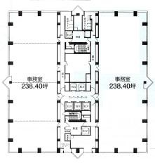 西新宿三井ビルディング 13階 1303号室 117.91坪 (新宿区西新宿6-24-1)賃貸オフィス 詳細情報